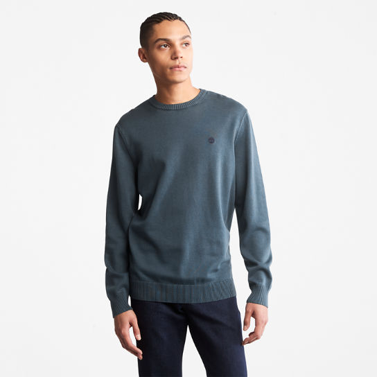 Garment-Dyed Sweater for Men in Blue | Timberland