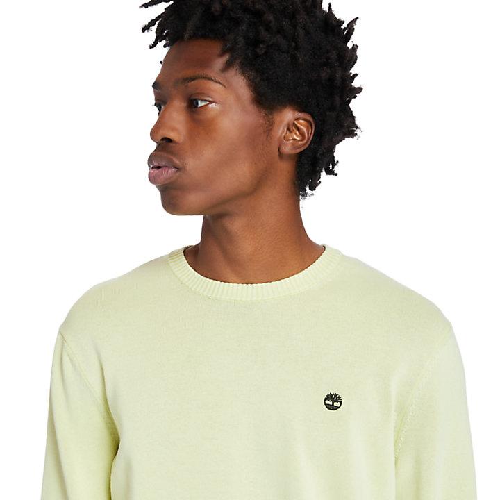 Garment-Dyed Sweater voor heren in lichtgeel-