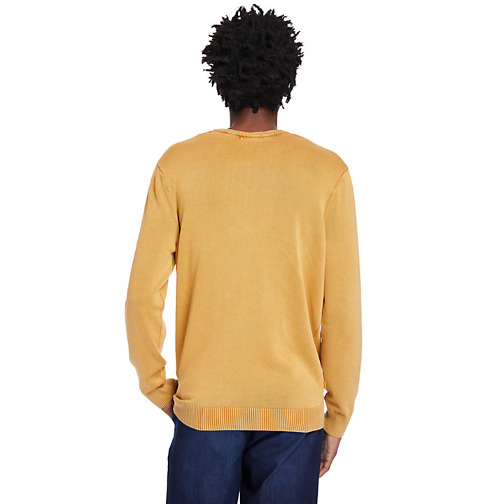 Garment-Dyed Sweater for Men in Orange-