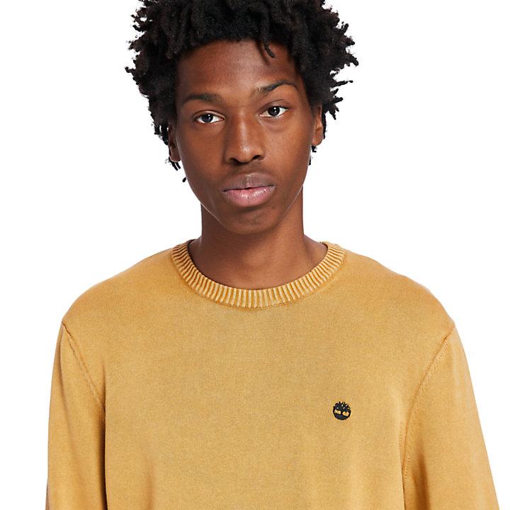 Jersey teñido en prenda para hombre en naranja-