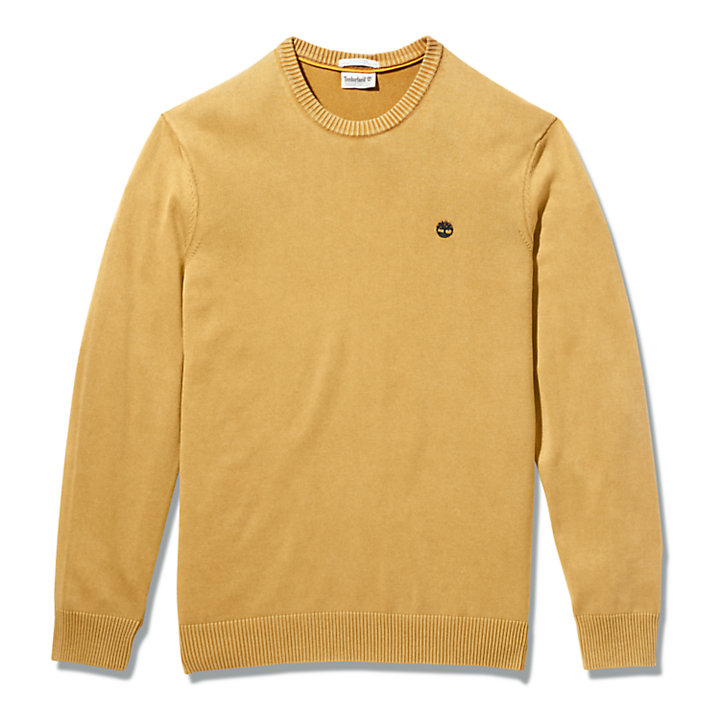 Pull teint en pièce pour homme en orange-