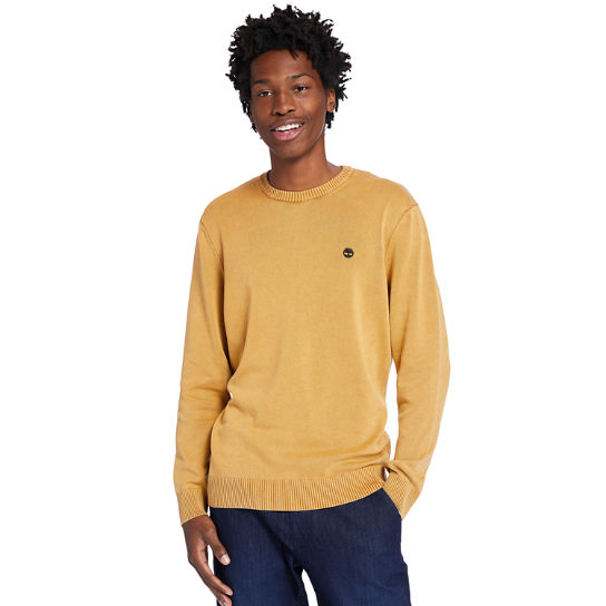 Garment-Dyed Sweater for Men in Orange | Timberland