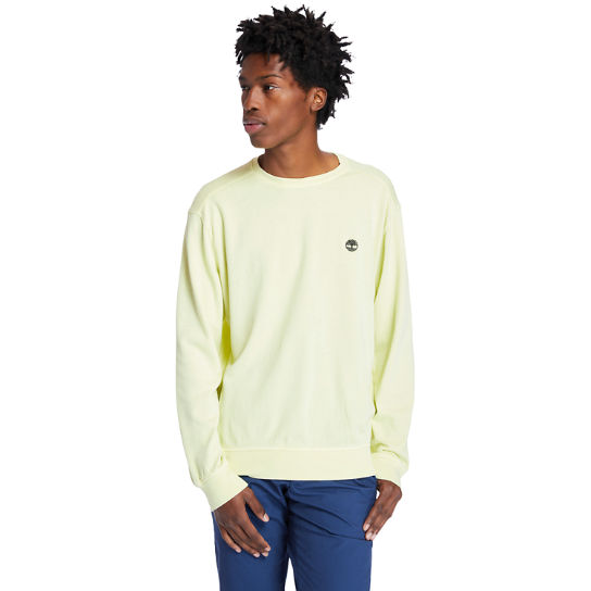 Garment-Dyed Sweatshirt for Men in Light Yellow | Timberland
