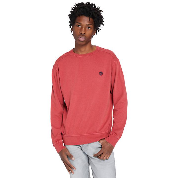Felpa da Uomo Garment-Dyed in rosso-
