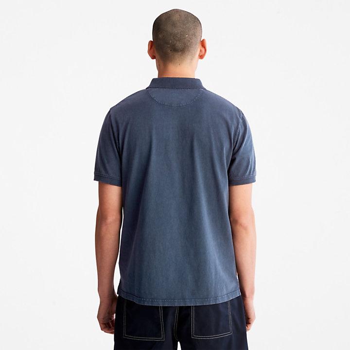 Sunwashed Jersey-Polohemd für Herren in Blau-
