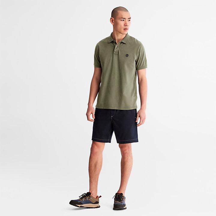 Polo Sunwashed en jersey pour homme en vert-