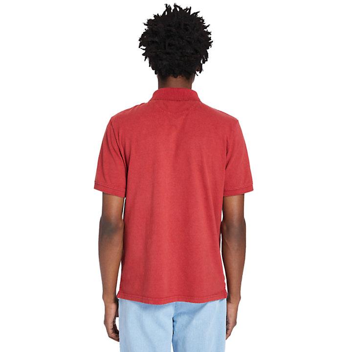 Polo Sunwashed para hombre en rojo-