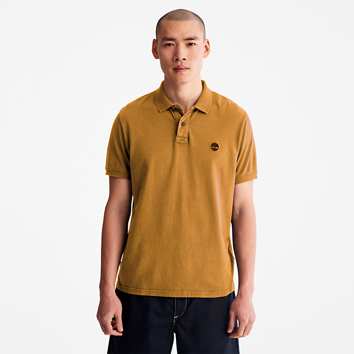 Polo Sunwashed en jersey pour homme en orange-