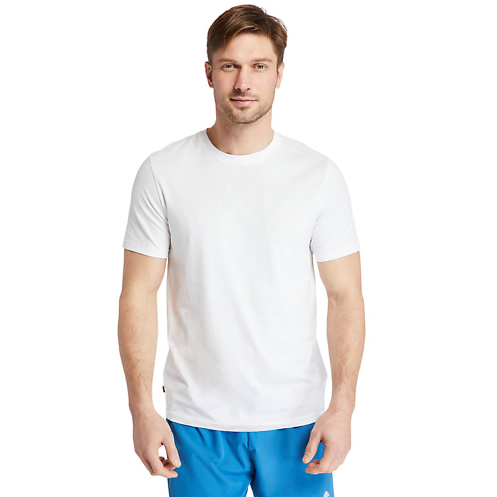 Cocheco River Supima® Cotton T-shirt for Men in White-