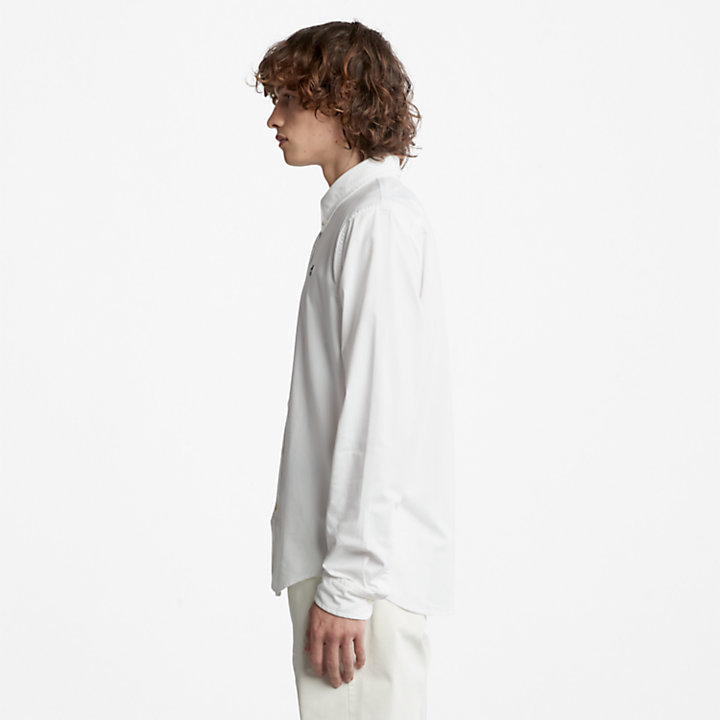 Pleasant River Slim Oxford Shirt for Men in White-