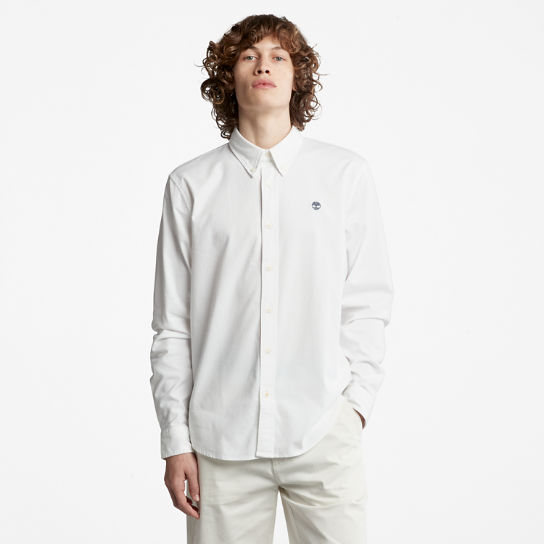 Camicia Oxford Slim da Uomo Pleasant River in bianco | Timberland