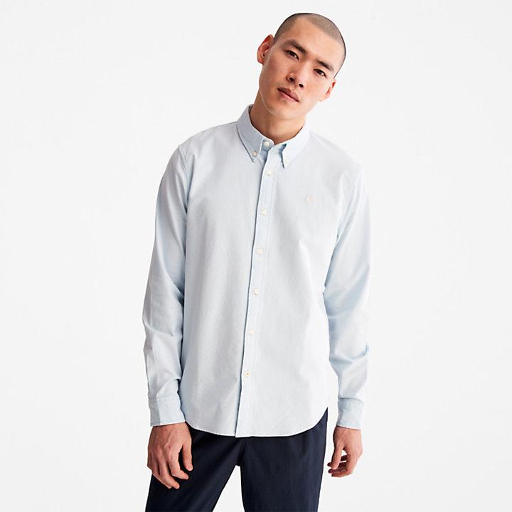 Pleasant River Slim Oxford Shirt for Men in Light Blue-