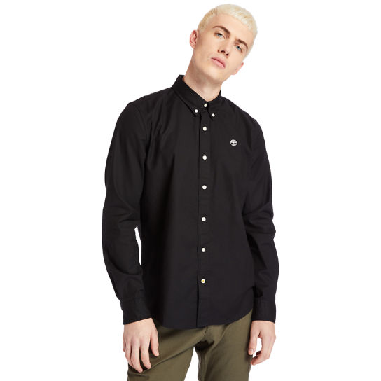 Pleasant River Slim Oxford Shirt for Men in Black | Timberland