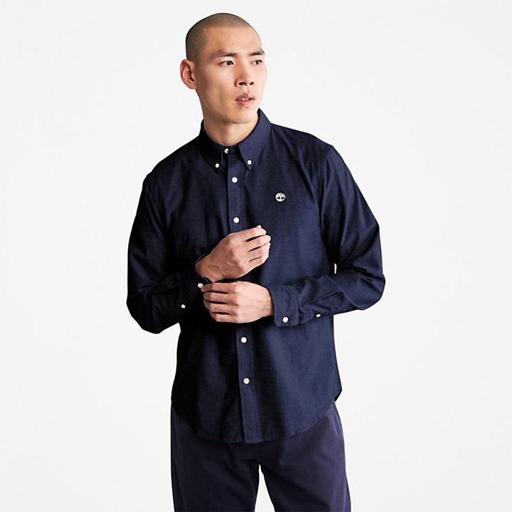 Pleasant River Slim Oxford Shirt for Men in Navy-