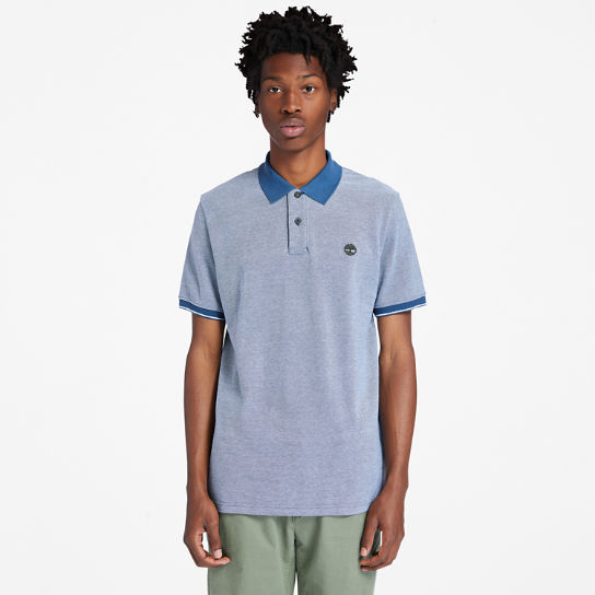 Oxford Pique Polo Shirt for Men in Blue | Timberland