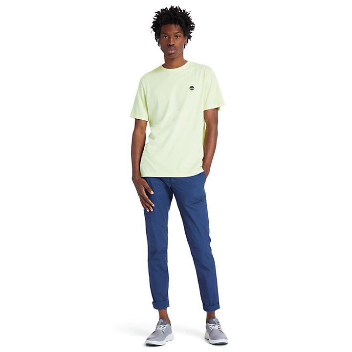 Garment-Dyed T-Shirt for Men in Light Yellow-