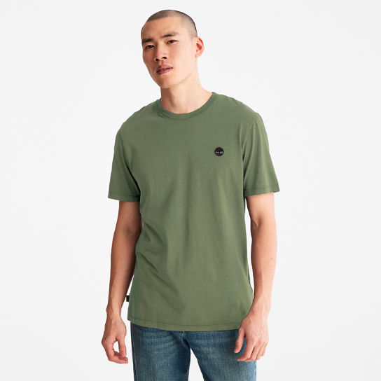 Garment-Dyed T-Shirt for Men in Green | Timberland