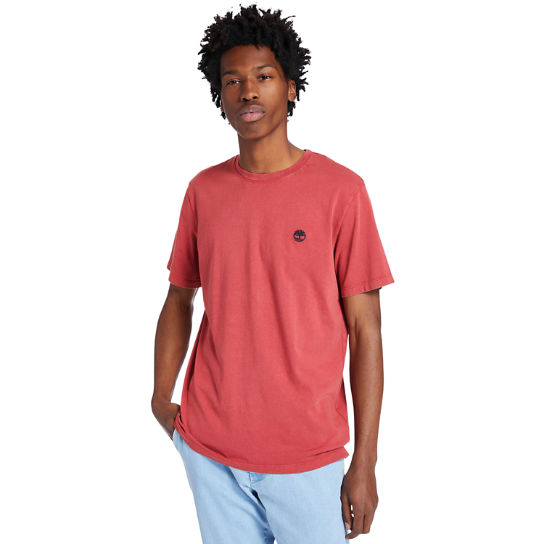 Garment-Dyed T-Shirt for Men in Red | Timberland