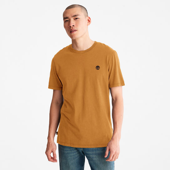 Garment-Dyed T-Shirt for Men in Orange | Timberland