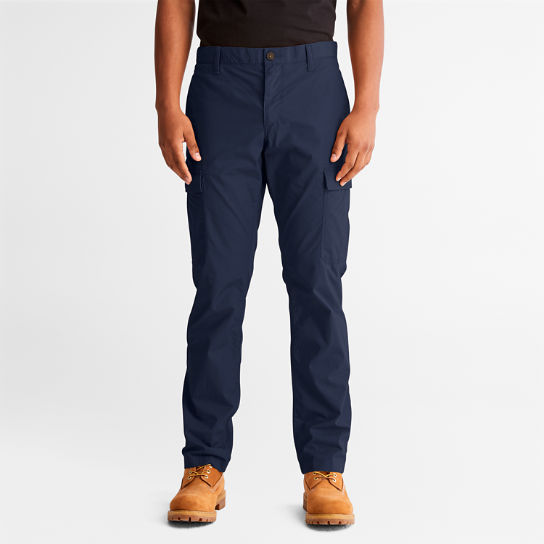Poplin Cargo Trousers for Men in Navy | Timberland