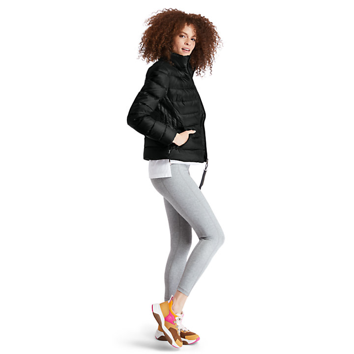 Insulated Quilted Jacket for Women in Black-