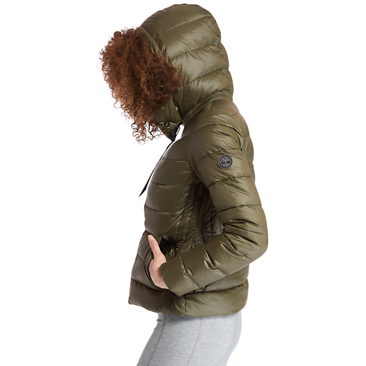 Insulated Quilted Jacket for Women in Green-