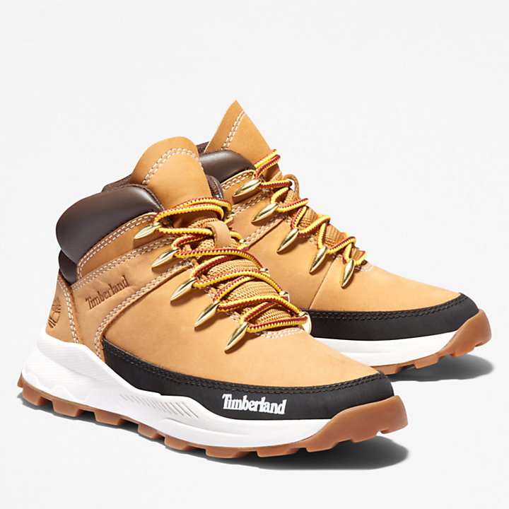 Brooklyn High Top Trainer for Youth in Yellow-