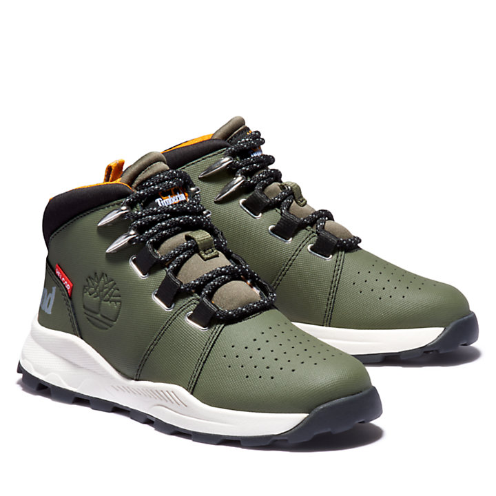 Brooklyn Lace-Up Sneaker for Youth in Green-
