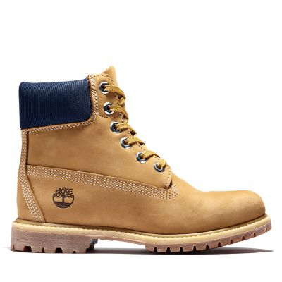 Premium+6+Inch+Boot+for+Women+in+Dark+Yellow