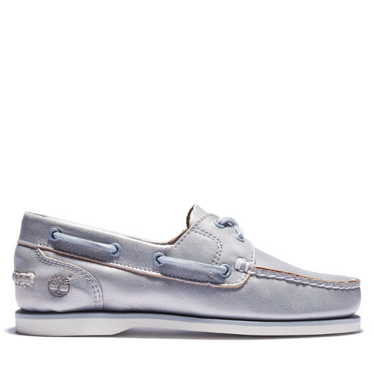 Two-eye Classic Boat Shoe for Women in Silver | Timberland