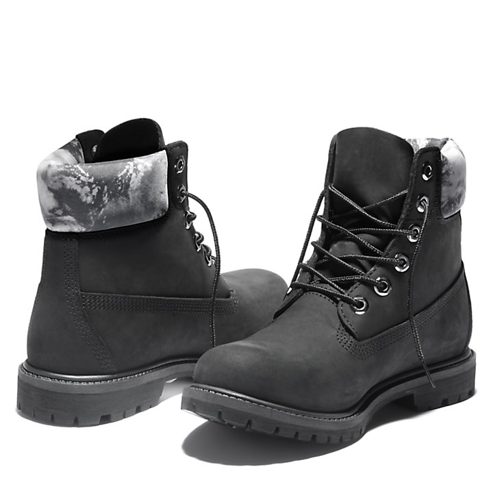 Premium 6 Inch Boot for Women in Black/White-