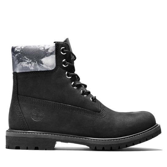 Premium 6 Inch Boot for Women in Black/White | Timberland