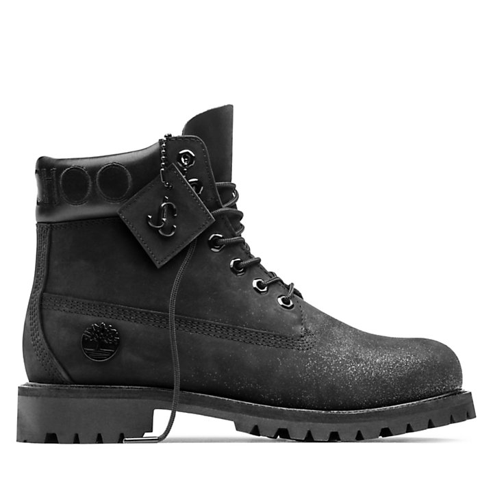 Jimmy Choo x Timberland 6-Inch Boot for Men in Black with Glitter-