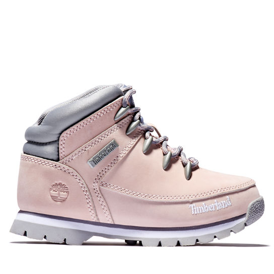 Euro Sprint Mid Hiker for Junior in Pink | Timberland