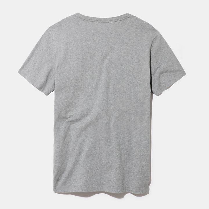 T-shirt da Uomo con Logo Kennebec River in grigio-