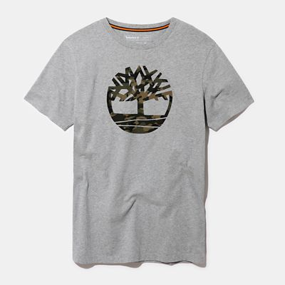 Kennebec+River+Logo+T-Shirt+for+Men+in+Grey