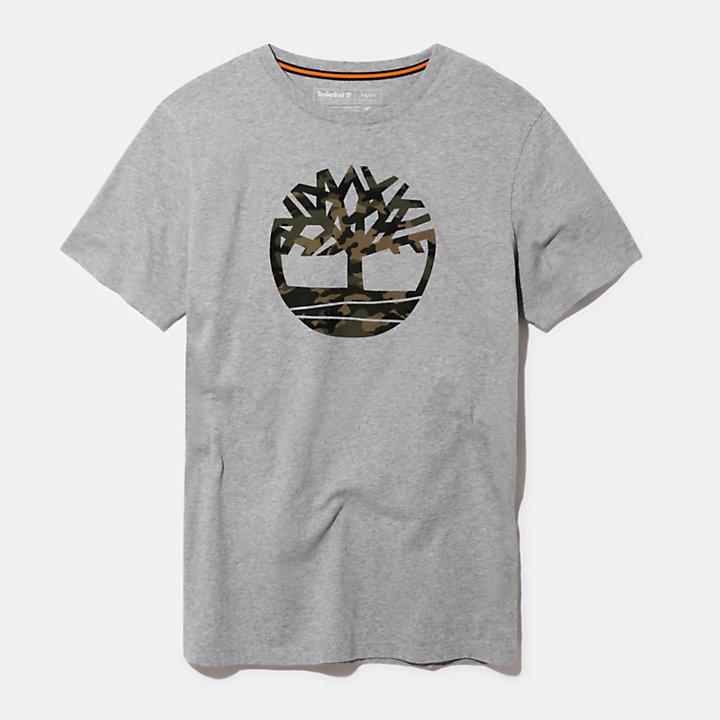 T-shirt Kennebec River à logo pour homme en gris-