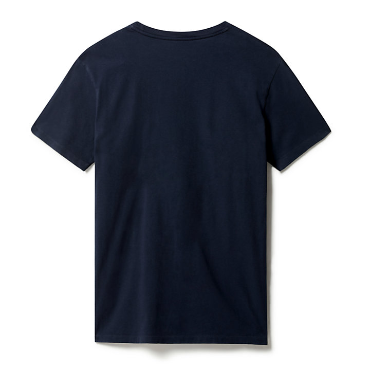 Kennebec River Logo T-Shirt for Men in Navy-