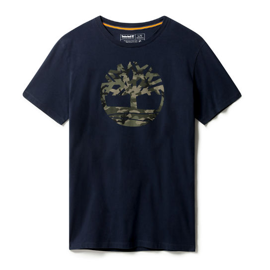 Kennebec River Logo T-Shirt for Men in Navy | Timberland