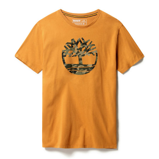 Kennebec River Logo T-Shirt for Men in Yellow | Timberland