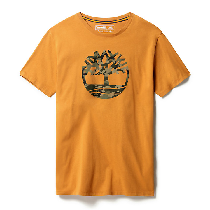 Kennebec River Logo T-Shirt for Men in Yellow-