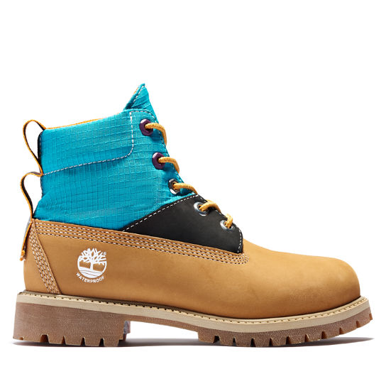Premium 6 Inch Winter Boot for Junior in Yellow/Blue | Timberland