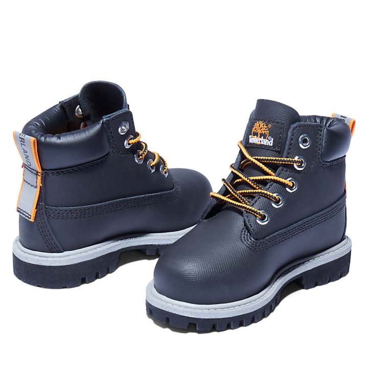 6-Inch Boot Premium pour tout-petit en noir-