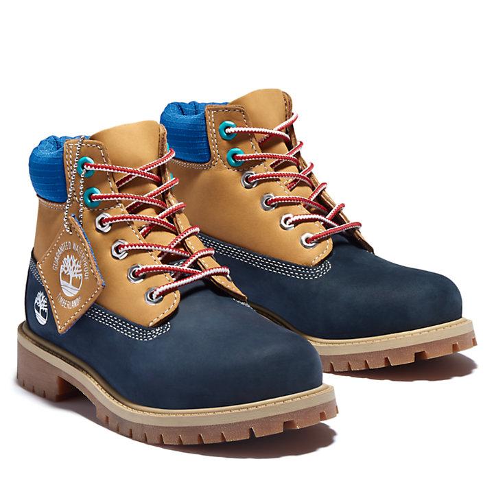Premium 6 Inch Boot for Junior in Navy-
