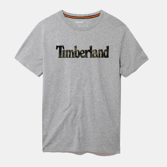 Kennebec River Camo Logo T-Shirt for Men in Grey | Timberland