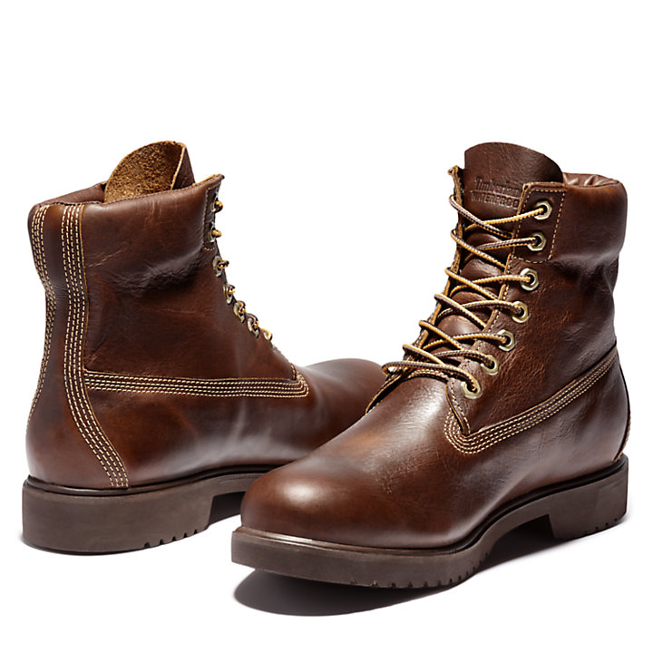 Newman 6 Inch Boot for Men in Dark Brown-