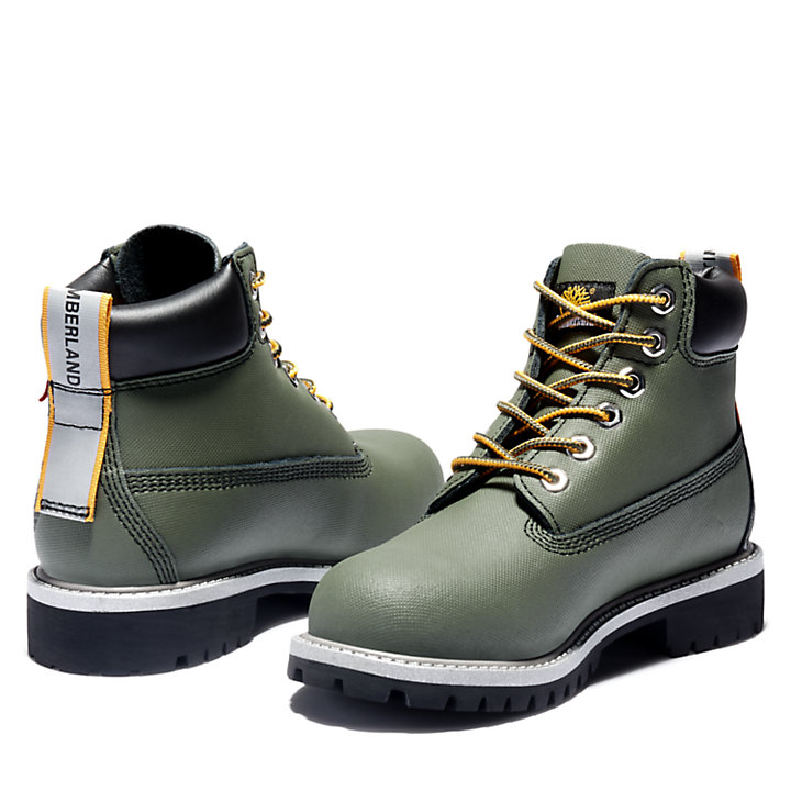 Premium 6 Inch Boot for Junior in Green-