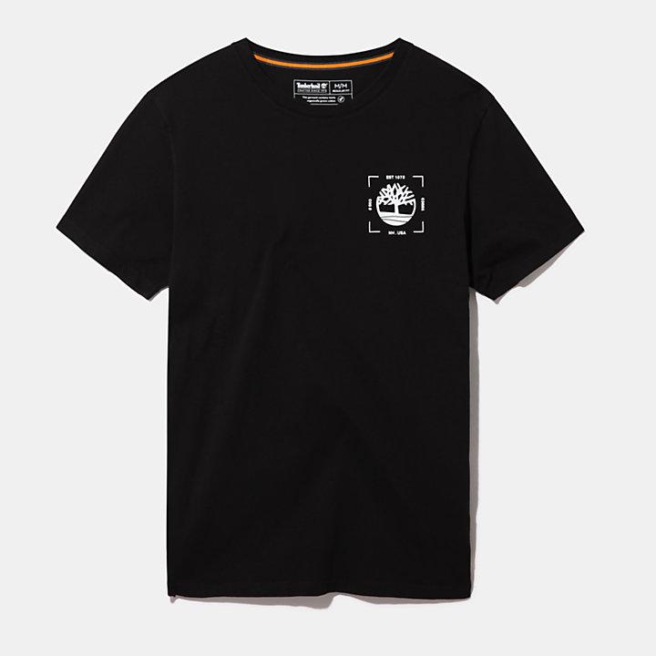 Camiseta Kennebec River para Hombre en color negro-