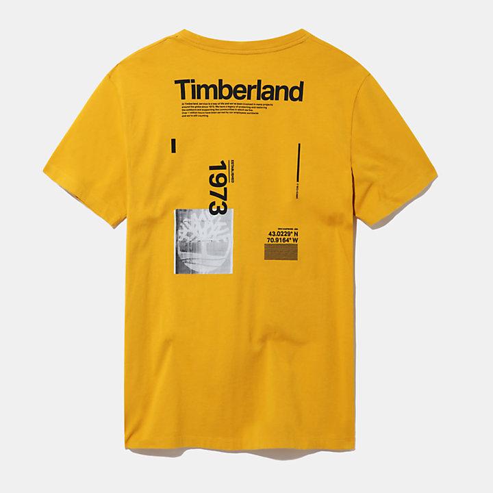 Kennebec River T-shirt voor heren in geel-