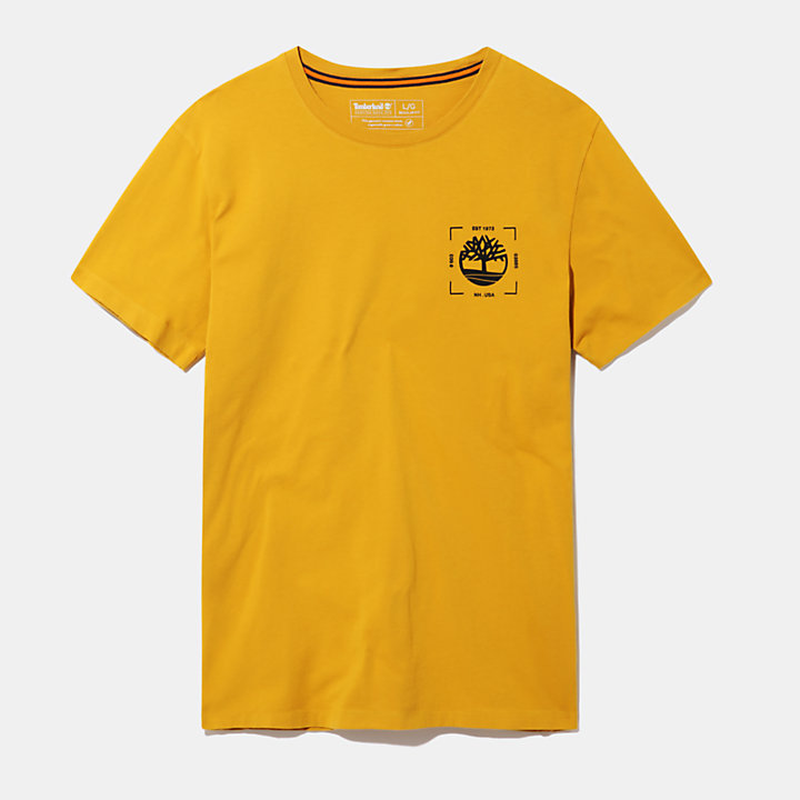 Kennebec River T-Shirt for Men in Yellow-